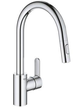 Grohe Eurostyle Cosmopolitan Chrome Single Lever 1-2 Inch Kitchen Sink Mixer Tap