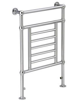DQ Heatings Cranwich Floor Mounted Heated Towel Rail