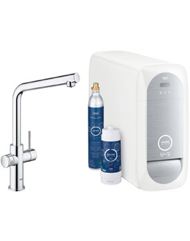 Grohe Blue L-Spout Kitchen Sink Mixer Tap With Filter Kit