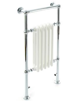 DQ Heating Lynford Floor Mounted Heated Towel Rail