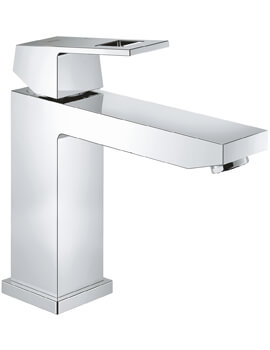 Grohe Eurocube Deck Mounted M-Size Half Inch Chrome Basin Mixer Tap