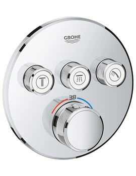 Grohe Grohtherm SmartControl Thermostat With 3 Valves
