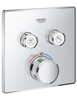 Grohe Grohtherm SmartControl Thermostat With Two Valve