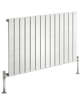 Reina Flat Double Panel Horizontal Designer Radiator 600mm High