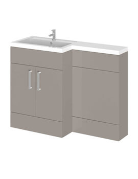 Essential Nevada L-Shape Floor Standing Unit And Basin Left Hand