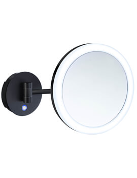 Smedbo Outline 200mm Wall Mounted Shaving And Make-Up Mirror With Light