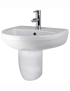 Premier Harmony 500mm 1 Tap Hole Basin With Semi Pedestal
