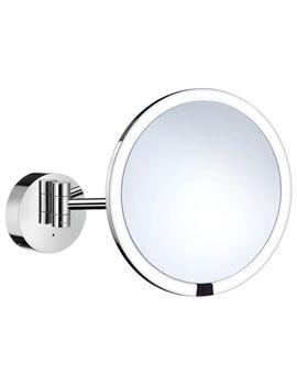 Smedbo Outline Polished Chrome Shaving Make-Up Mirror With LED Technology