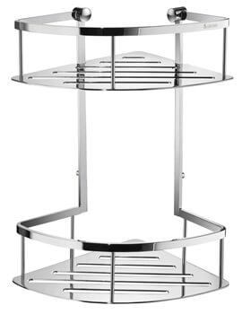Smedbo Sideline 322mm Height Double Corner Shower Basket
