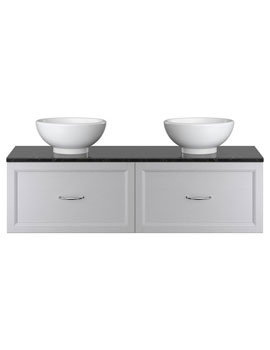 Heritage Caversham Double Wall Hung Vanity Unit With Basin