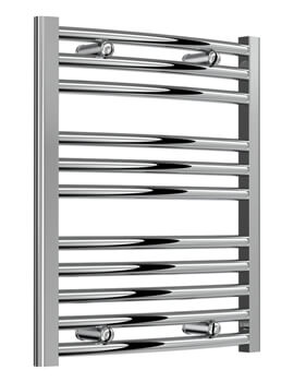 Reina Diva Chrome Curved Towel Rail 750mm Wide