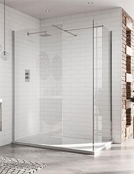 April Identiti Wetroom 8mm Clear Glass Panel