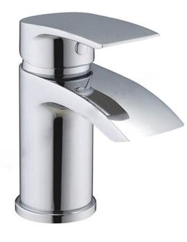 Essential Portobello Mini Mono Basin Mixer Tap With Click Clack Waste