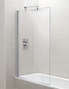 April 800 x 1400mm Single Bath Screen