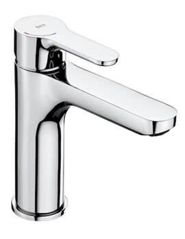 Roca L20 Medium Height Basin Mixer Tap With Smooth Body