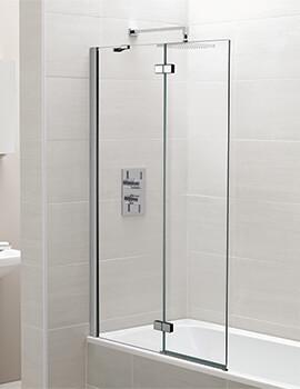 April 1000 x 1500mm Two Panel Hinged Bath Screen