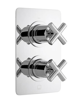 Vado DX Elements 1 Outlet 2 Handle Concealed Thermostatic Valve With Soft Square Backplate