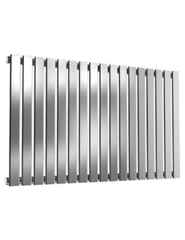 Reina Flox 600mm High Horizontal Stainless Steel Single Panel Radiator