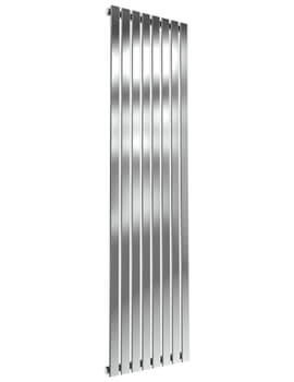 Reina Flox 1800mm High Vertical Single Panel Stainless Steel Radiator