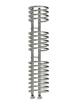 Reina Claro 300mm Wide Chrome Steel Designer Heated Towel Rail