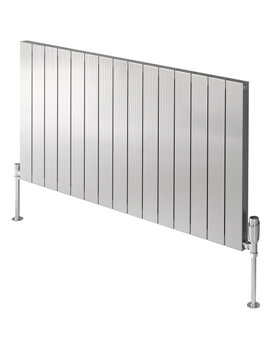Reina Polito 600mm High Horizontal Aluminium Radiator Polished