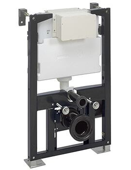 Bauhaus 500mm Wide WC Support Frame With Dual Flush Cistern