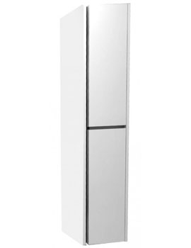 Pura Alma Vertical Storage Unit Double Door Wall Mounted 1500mm