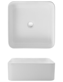 Bauhaus Bold 400mm Countertop Basin Without Overflow