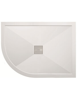 Simpsons 900 x 1200mm Low Profile Left Hand Offset Quadrant Shower Tray