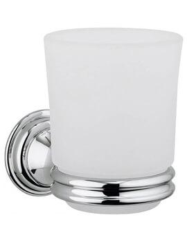 Crosswater Belgravia Glass Tumbler And Chrome Holder - BL003C