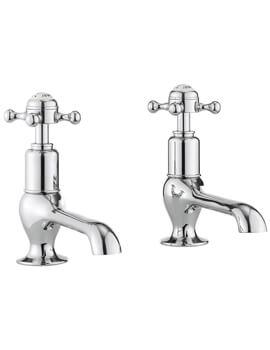 Crosswater Belgravia Chrome Pair Of Long Nose Basin Taps