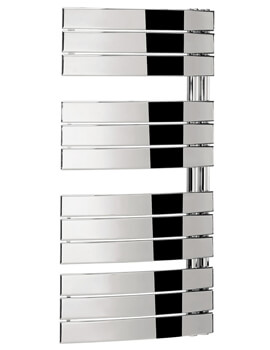 Bauhaus Essence 550mm Wide Curved Flat Panel Towel Rail