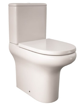 RAK Compact Deluxe Fully BTW Close Coupled Rimless Toilet - 455mm High
