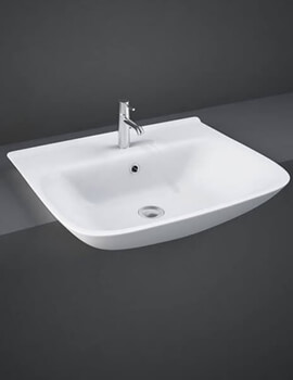 RAK Origin 520mm Wide Semi-Recessed Basin With 1 Tap Hole