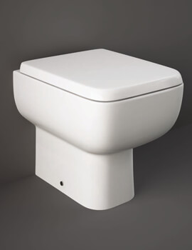 RAK Series 600 Back-To-Wall WC Pan With Urea Soft Close Seat