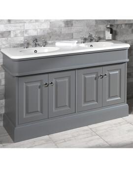 Silverdale Victorian 1400mm Unit With Worktop And 440mm Double Basin