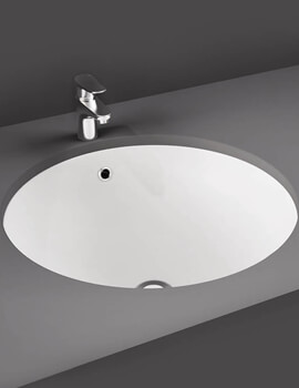 RAK Emma Under Or Over Counter Washbasin - W 400 x D 400 x H 193mm
