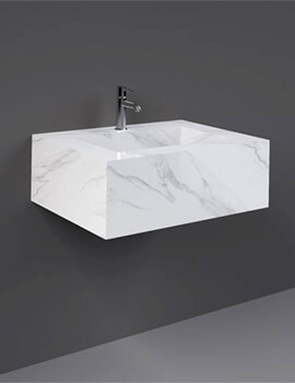Rak Precious Wall Hung Counter Wash Basin - Available With 1 Tap Hole Or No Tap Hole