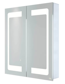 RAK Aphrodite LED Illuminated 2-Door Mirrored Cabinet - W 600 x H 700mm