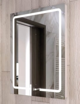 RAK Pegasus LED Illuminated Mirror With Touch Sensor Switch - W 600 x H 800mm