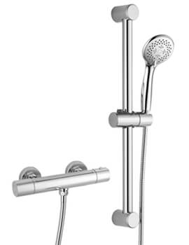 RAK Cool Touch Thermostatic Bar Shower Valve With Slider Rail Kit
