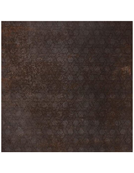 RAK Evoque Metal Lapatto 60 x 60cm Brown Decor Porcelain Tile
