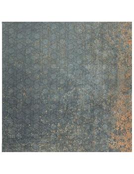 RAK Evoque Metal Lappato 75 x 75cm Green Grey Decor Porcelain Tile