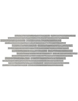 RAK Fashion Stone Lappato 30 x 60cm Light Grey Thin Muretto Mosaic Porcelain Tile