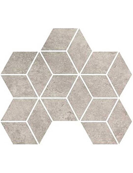 RAK Fashion Stone 25.5 x 29.5cm Clay Matt Rhomboid Mosaic Porcelain Tile