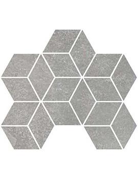RAK Fashion Stone 25.5 x 29.5cm Light Grey Matt Rhomboid Mosaic Porcelain Tile