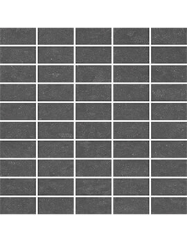 RAK Lounge Unpolished Dark Anthracite Full Body Porcelain 3x6 Mosaic 30x30cm Tile