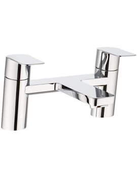 Crosswater Zero 6 Chrome Twin Lever Bath Filler Tap
