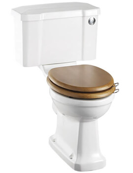 Burlington Rimless Close Coupled WC Pan And 44cm Front Button Cistern