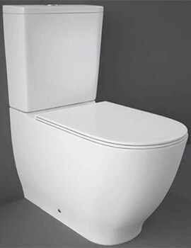 RAK Moon Back-To-Wall Close Coupled Toilet With Cistern And Soft Close Seat